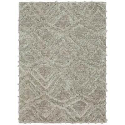 Zafi Gray 4 ft. 11 in. x 7 ft. Area Rug