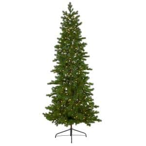 7.5 ft. Pre-lit Big Sky Spruce Artificial Christmas Tree with 300 Clear Warm Multifunction LED Lights