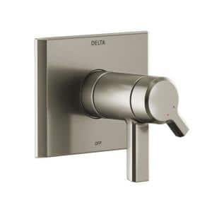 Pivotal TempAssure 1-Handle Wall-Mount Diverter Trim Kit in Stainless (Valve Not Included)