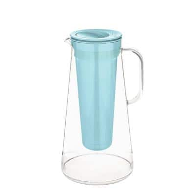 Home 7-Cup Water Filter Pitcher in Aqua, BPA Free