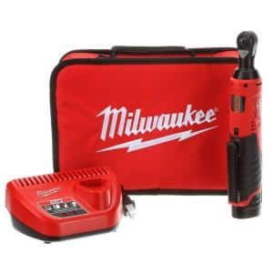 M12 12-Volt Lithium-Ion Cordless 1/4 in. Ratchet Kit with (1) 1.5Ah Battery, Charger and Tool Bag