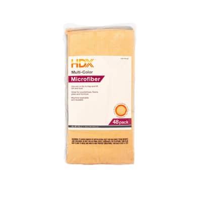 16 in. x 16 in. Multi-Purpose Microfiber Cloth (48-Pack)