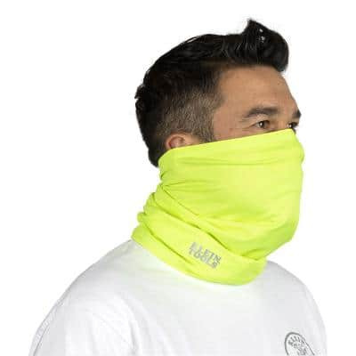 High-Visibility Yellow Neck and Face Cooling Band