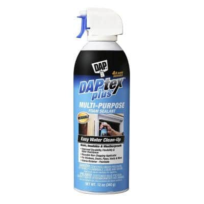 Daptex Plus 12 oz. White Exterior/Interior Window and Door Foam Sealant (12-Pack)