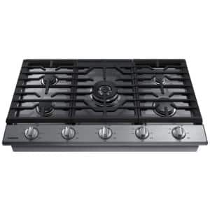 36 in. Gas Cooktop in Stainless Steel with 5 Burners including Power Burner with Wi-Fi
