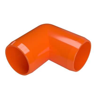 3/4 in. Furniture Grade PVC 90° Elbow in Orange (8-Pack)