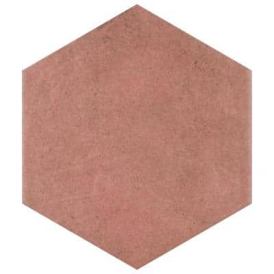 Heritage Hex Wine 7 in. x 8 in. Porcelain Floor and Wall Tile (7.67 sq. ft./Case)