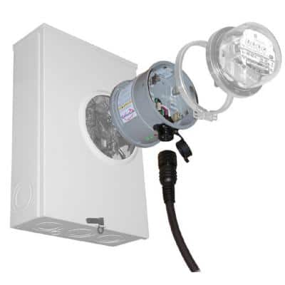 30 Amp Meter Mounted Transfer Switch with 75kA per Phase Surge Protection