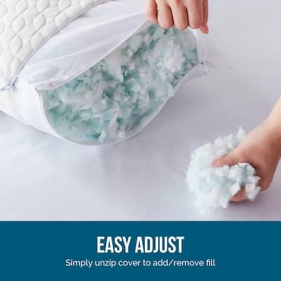 Fiber and Shredded Foam Pillow with ZippeInner Cover (2-Pack)