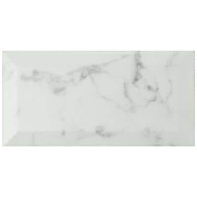 Classico Carrara Matte Metro 3 in. x 6 in. Ceramic Wall Subway Tile (12.41 sq. ft. / case)