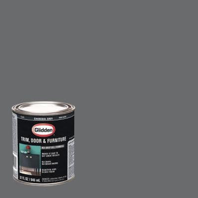 1 qt. Charcoal Grey Gloss Interior/Exterior Oil Paint