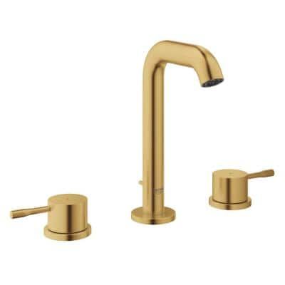 Essence 8 in. Widespread 2-Handle Bathroom Faucet with Flow Control in Brushed Cool Sunrise