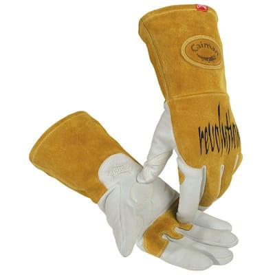 Large Pearl Ergonomic Goat Skin TIG/Multi-Task Welding Gloves