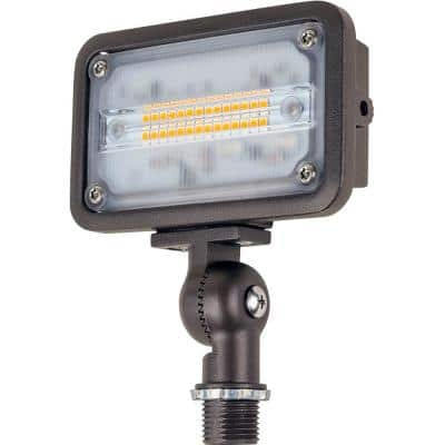 16-Watt Bronze Outdoor Integrated LED Landscape Weatherproof Wall Wash Flood Light with Adjustable Mounting Bracket