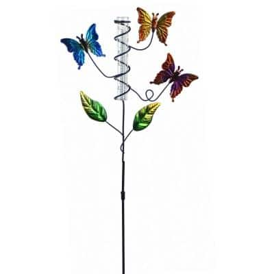 5-Inch Capacity Butterfly Glass Rain Gauge Stake