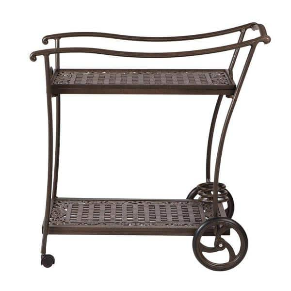 Home Decorators Collection Madrid Bronze Patio Serving Trolley | The Home Depot