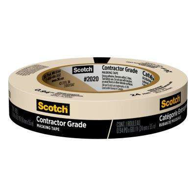 Scotch 0.94 in. x 60.1 yds. Contractor Grade Masking Tape