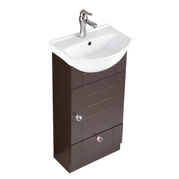 Bathroom Vanity Sink Combo In Dark Oak, Small Bathroom Sink And Vanity Combo