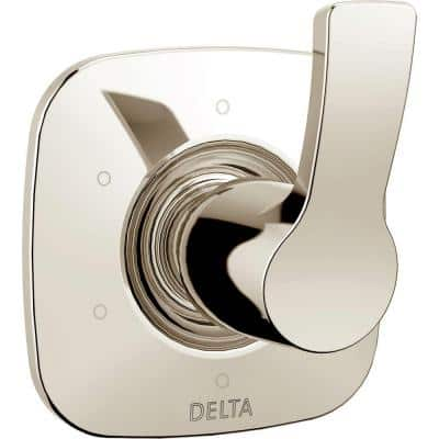 Tesla Single-Handle 6 Setting Diverter Valve Trim Kit in Polished Nickel (Valve Not Included)