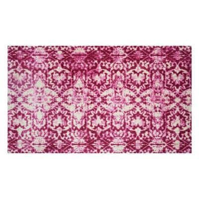 In-Home Washable/Non-Slip Muted Pink 2 ft. 3 in. x 3 ft. 11 in. Area Rug & Mat