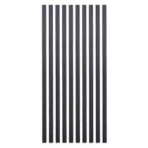 26 in. x 3/4 in. Black Pearl Matte Galvanized Steel Square Baluster (10-Pack)