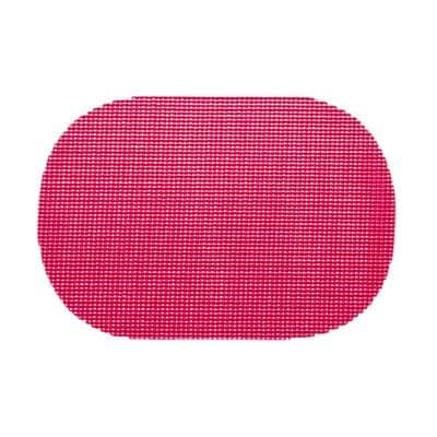 Pink Yarrow Fishnet Oval Placemat (Set of 12)