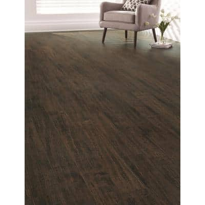 7-1/2 in. W Wellington Hand Scraped Strand Woven Wide Plank Engineered Click Bamboo Flooring (22.70 sq. ft./case)