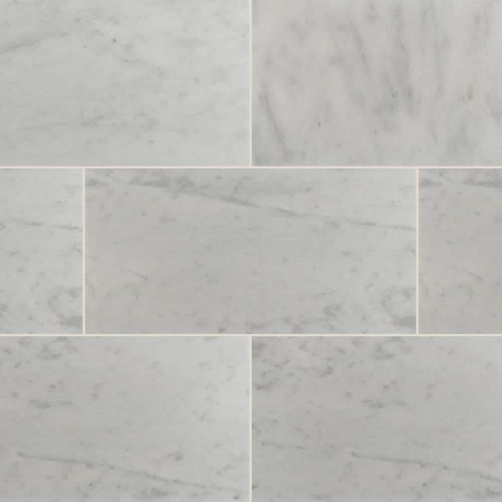 Msi Greecian White 12 In X 24 In Polished Marble Floor And Wall Tile 10 Sq Ft Case Thdvenwht1224 The Home Depot
