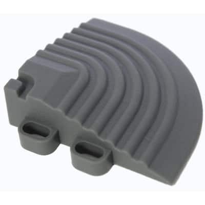 2.5 in. x 2.5 in. Slate Grey Corner Edging for 15.75 in. Modular Tile Flooring (2-Pack)