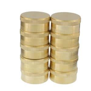 Brass Hose End Caps (Pack of 10)