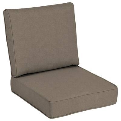24 x 24 Sunbrella Cast Shale Outdoor Lounge Chair Cushion