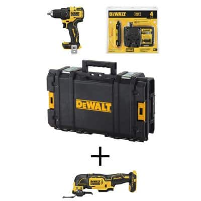 ATOMIC 20-Volt MAX Brushless Cordless 1/2 in. Drill/Driver Kitw/ATOMIC 20-Volt Brushless Oscillating Tool (Tool-Only)