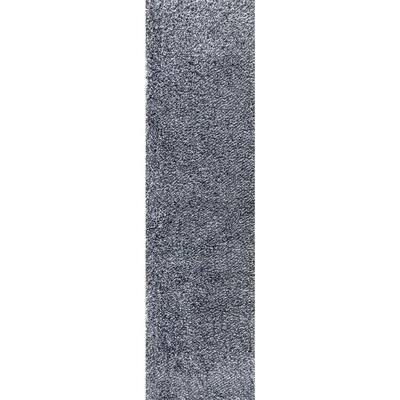 Mercer Shag Plush Denim Blue 2 ft. x 8 ft. Runner Rug