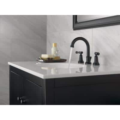 Chamberlain 8 in. Widespread 2-Handle Bathroom Faucet in Matte Black