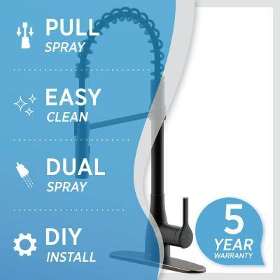 Classic Series Single-Handle Pull-Down Spring Neck Sprayer Kitchen Faucet in Oil Rubbed Bronze