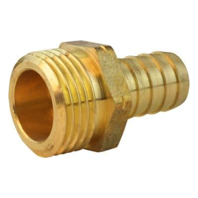 5/8 in. Barb x 3/4 in. MHT Brass Adapter Fitting