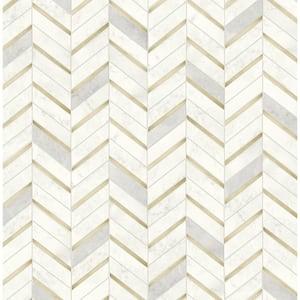 Faux Marble Tile Vinyl Peel & Stick Wallpaper Roll (Covers 30.75 Sq. Ft.)