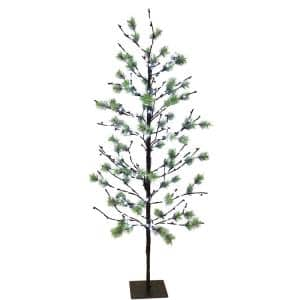 5 ft. Pre-Lit Twig Tree with 200 White LED Twinkle Lights