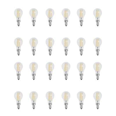 75-Watt Equivalent A15 Candelabra-Base Dimmable Filament LED Clear Glass Light Bulb in Daylight (24-Pack)