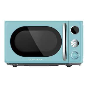 0.7 cu. ft. 700-Watt Countertop Microwave in Blue, Retro