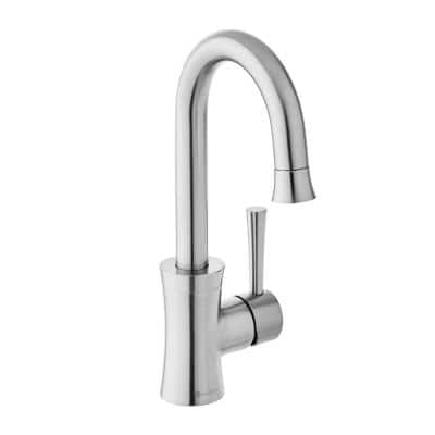 Luca Single-Handle Bar Faucet in Stainless Steel