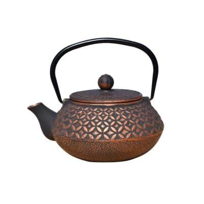Amai 3-Cup Teapot in Black and Copper