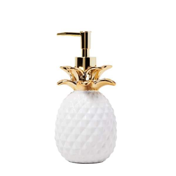 Skl Home Gilded Pineapple Free Standing Lotion Dispenser In Gold T4269100230004 The Home Depot