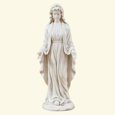 Virgin Mary Garden Statue in White