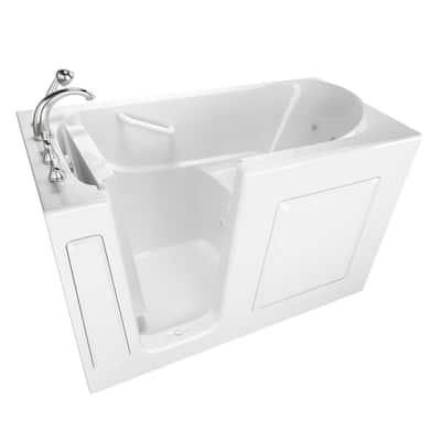 Value Series 60 in. Left Hand Walk-In Whirlpool Bathtub in White