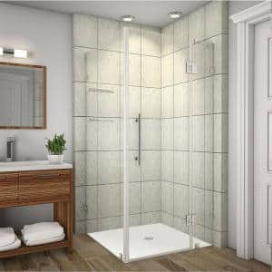 Aston Avalux Gs 42 In X 36 In X 72 In Completely Frameless Shower Enclosure With Glass Shelves In Chrome Sen992 Ch 4236 10 The Home Depot
