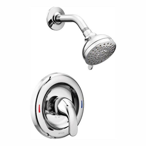 Moen Adler Single Handle 4 Spray Shower Faucet In Chrome Valve Included 82604 The Home Depot