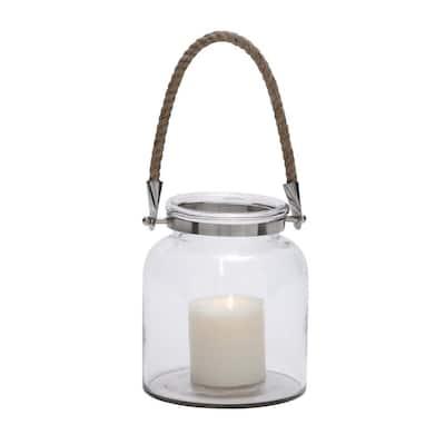 Clear Glass Coastal Candle Lantern