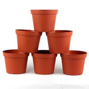 6 in. Plastic Round Pot (6-Pack)
