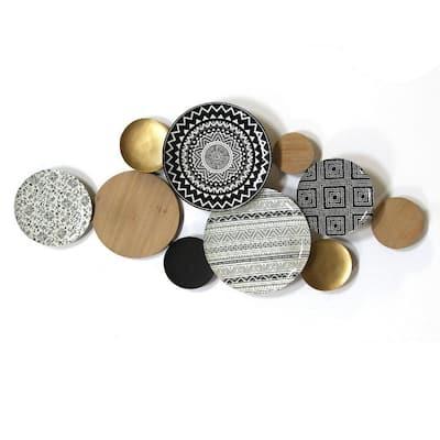 Boho Medley Metal & Wood Plates Wall Decor